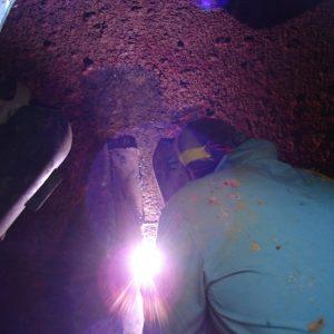 Riparazione Tubature In Acciaio Operai Al Lavoro